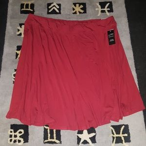 Catherines anywear pull on elastic waist skirt nwt